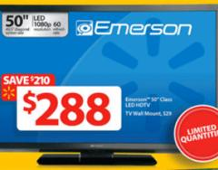 Walmart Black Friday 2013 has $288 50-inch Emerson LF501EM4F LED 1080p TV Doorbuster
